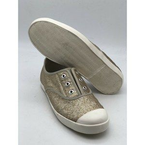 Boden Trainers Gold Sparkle Fashion Sneakers Women